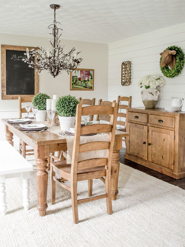 Light Bright Farmhouse Dining Room Modern Home Tour