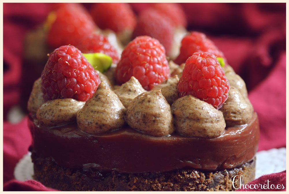 Mini Tartas de Chocolate y Frambuesa