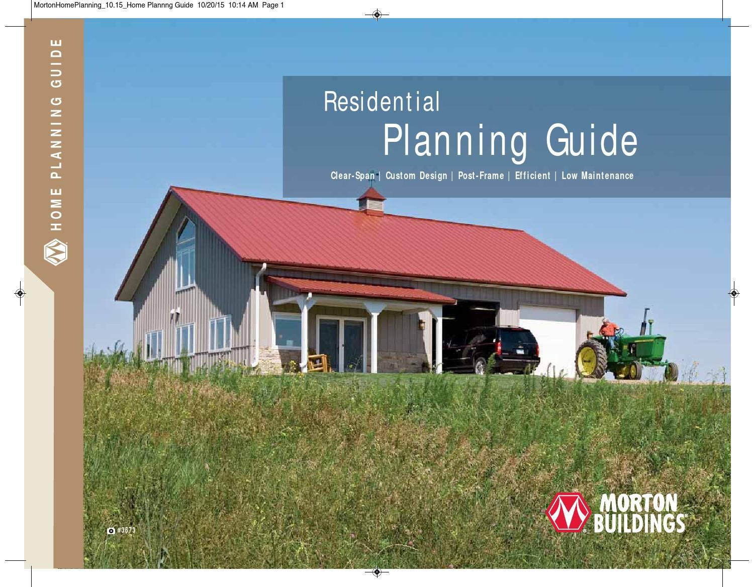 Morton buildings residential planning guide home plans for Pole barn residential homes