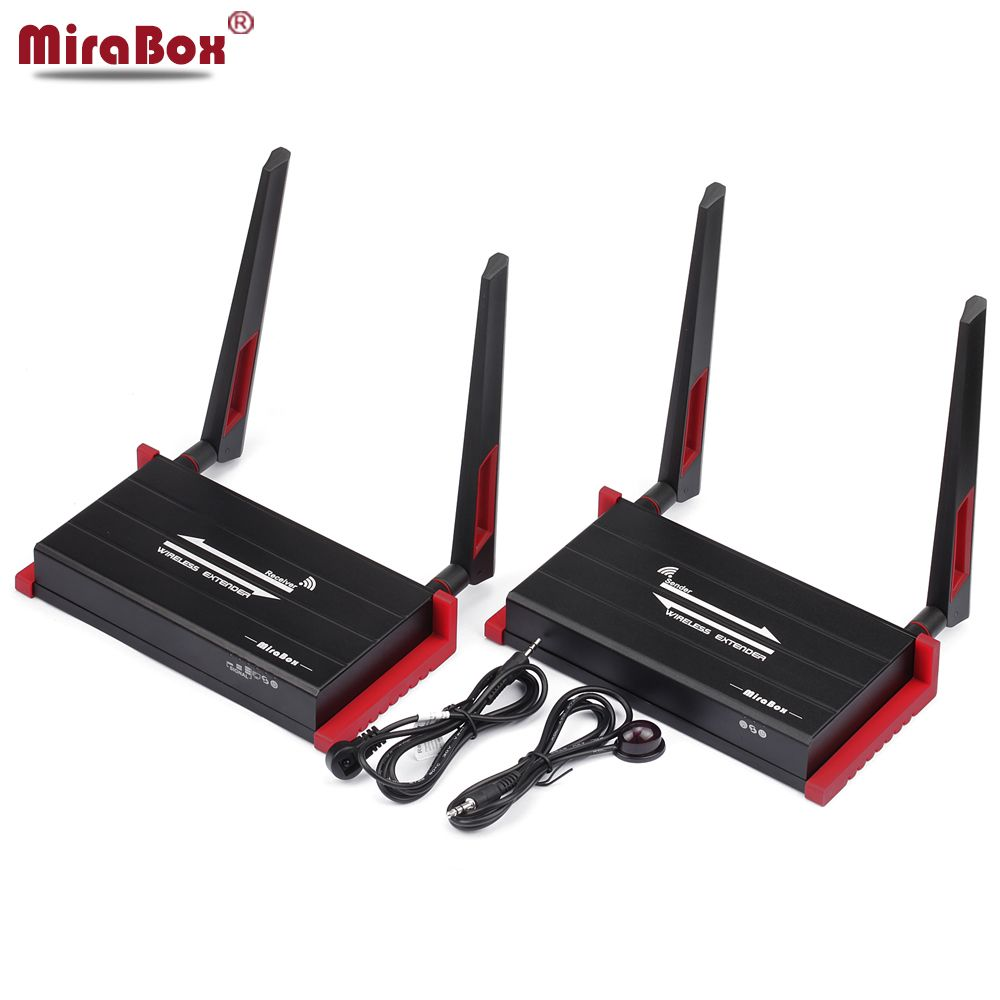 Mirabox 300m 984ft Wireless Hdmi Extender With Ir Remote Control Support 1080p