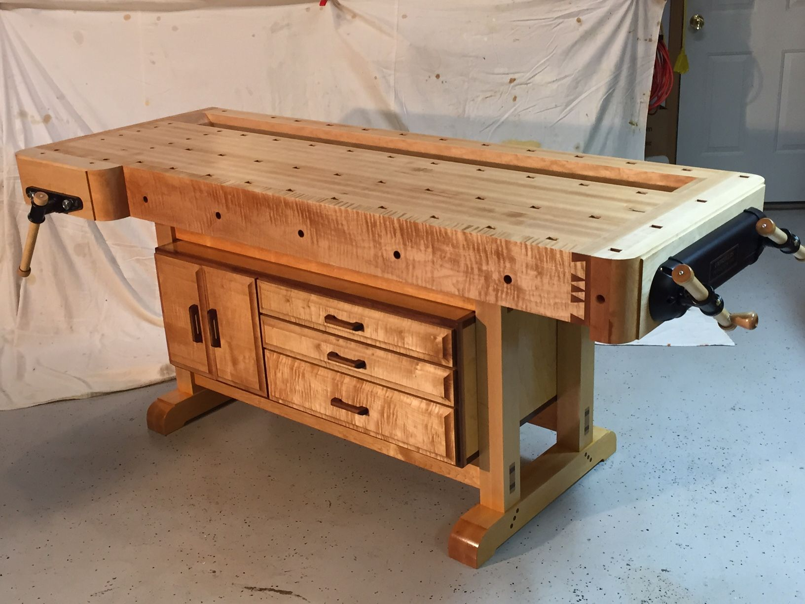 woodworking vice woodworking shop layout woodworking workbench workbench designs woodworking projects  [ 1632 x 1224 Pixel ]