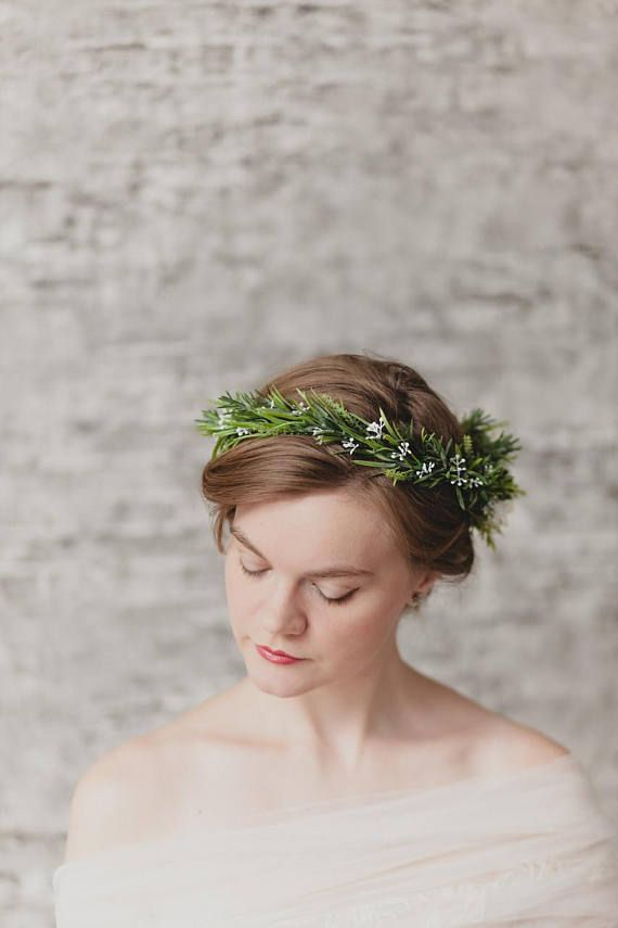 White bridal flower crown boho wedding flower crown bridal headband this elegant fall headpiece flower crown greenery for hair consists of neat white flowers and red mightylinksfo