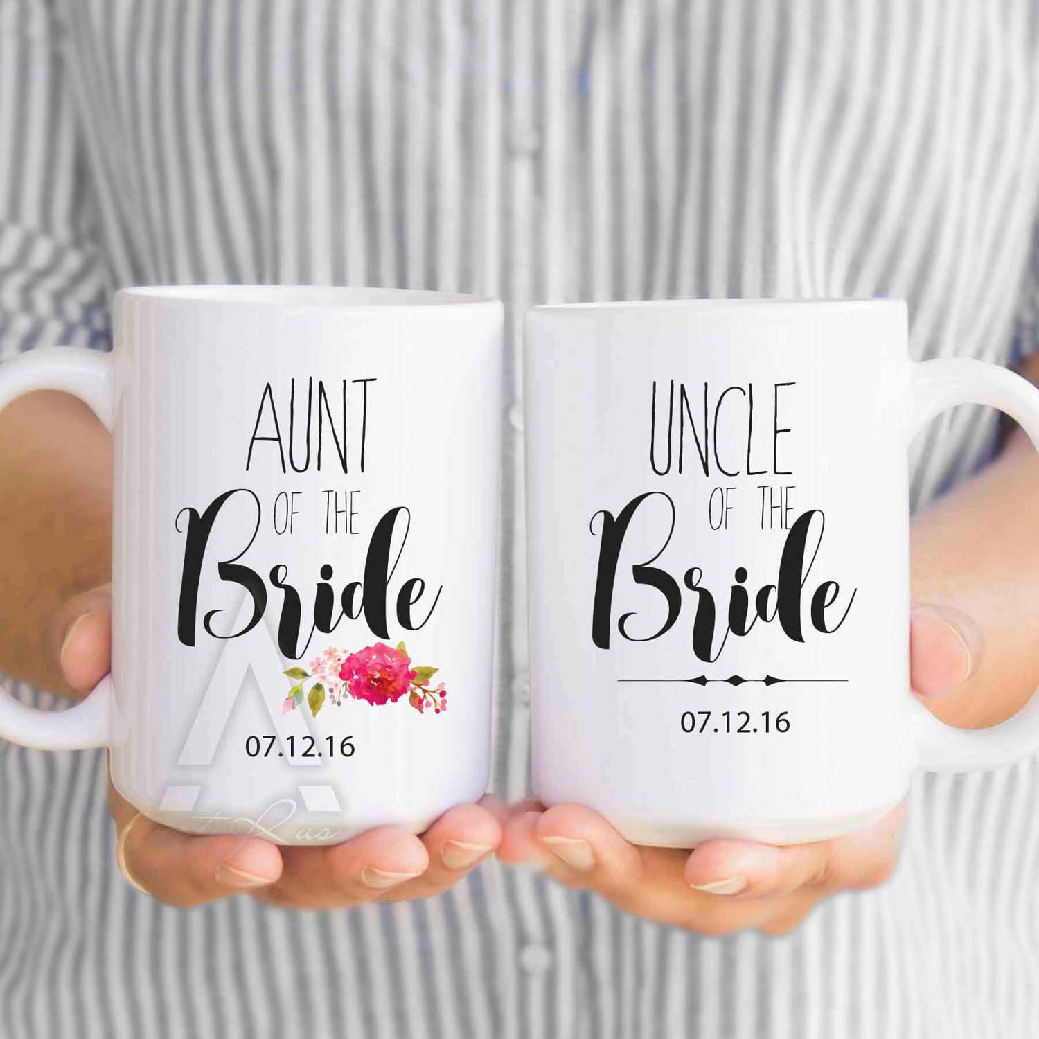 Aunt Of The Bride Gift Personalized Mugs Uncle Of The Bride Gifts