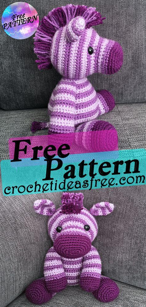 Free Crochet Zebra Pattern - thefriendlyredfox.com | 997x474