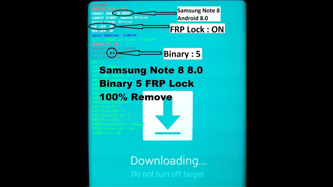 How To Remove Frp Lock Samsung Galaxy Note 8 Android Version 8 0