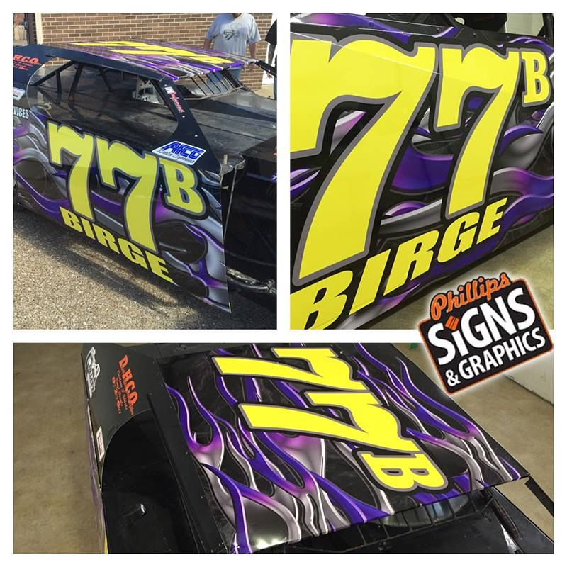 Wild printed race car wrap by Phillips Signs & Graphics ...