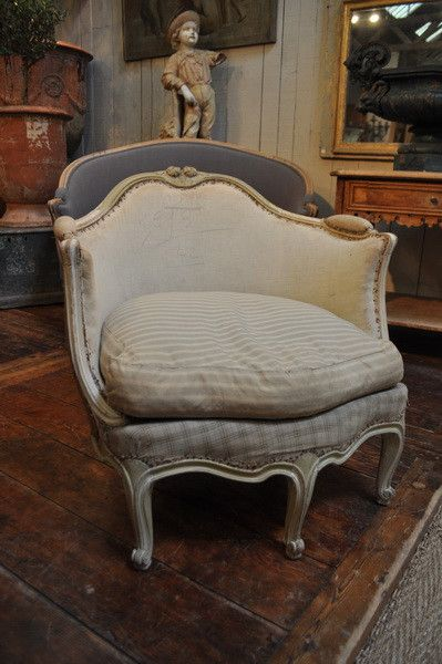 Louis 15 Style Bergere C 1900 Espace Nord Ouest Upholstered Furniture Furniture Couch Fabric