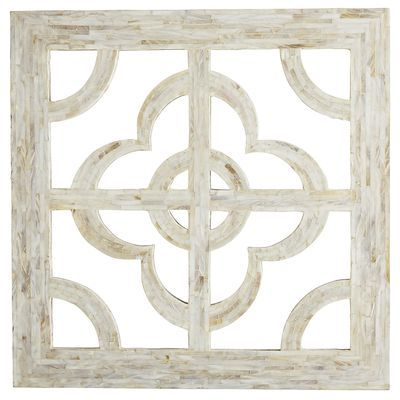 Above Bedroom Chest Mother Of Pearl Quatrefoil Wall Decor Ivory