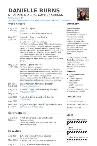 New Media Specialist Sample Resume Seniorsocialmediaspecialistresumeexample 400×600  Baddest .