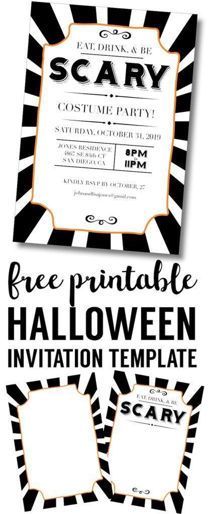 Halloween Invitations Free Printable Template - invitations templates