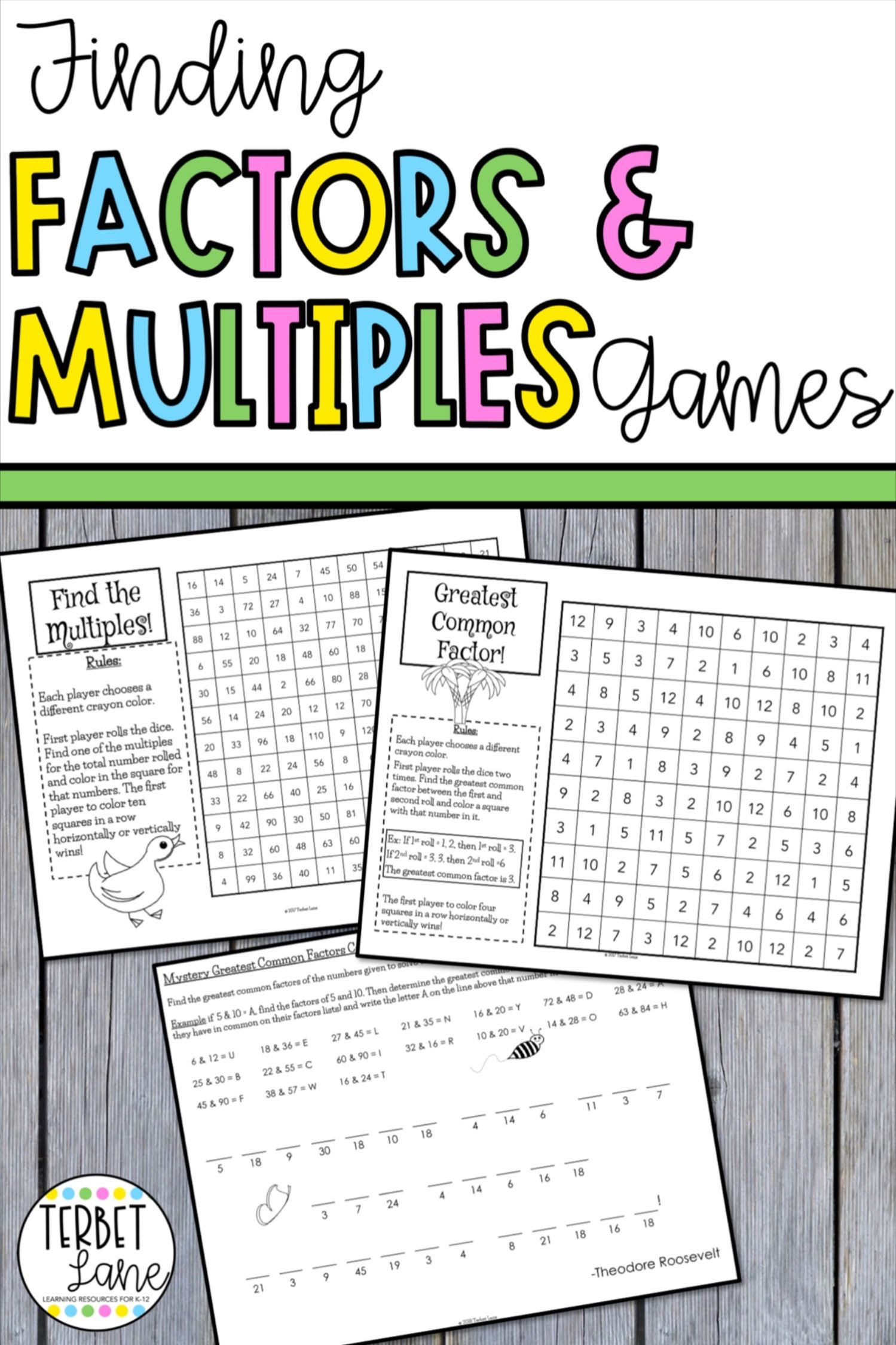 Factors And Multiples Games Distance Learning