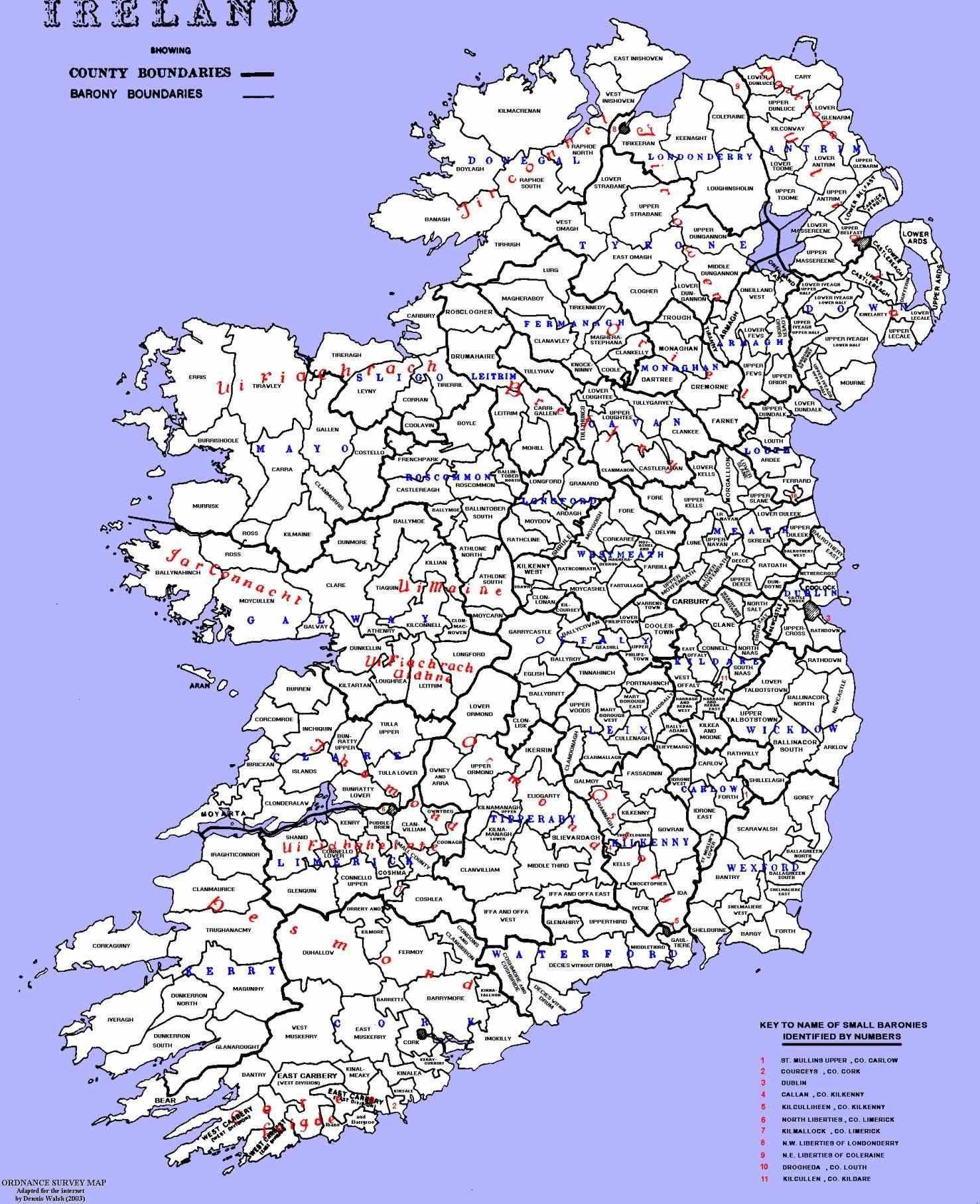 Map Of Republic Political Capital Dublin National Stock Vector