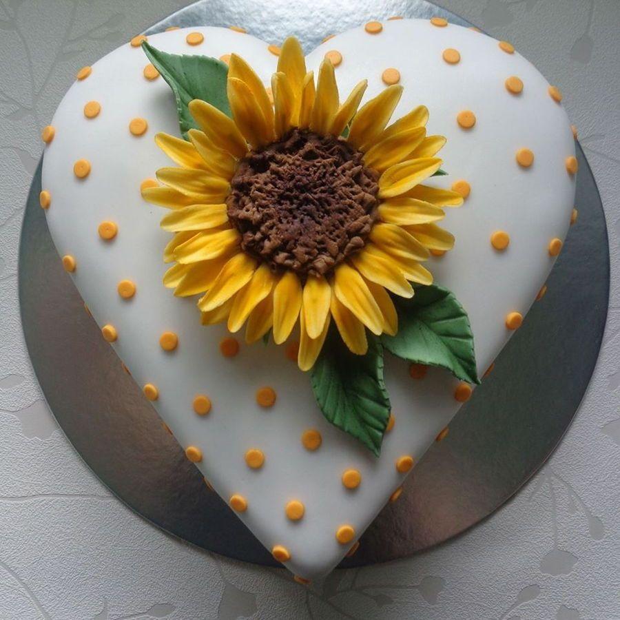 Sunflower cake gumpaste sunflower on a heart shaped cake hope you sunflower cake gumpaste sunflower on a heart shaped cake hope you like itzoe izmirmasajfo
