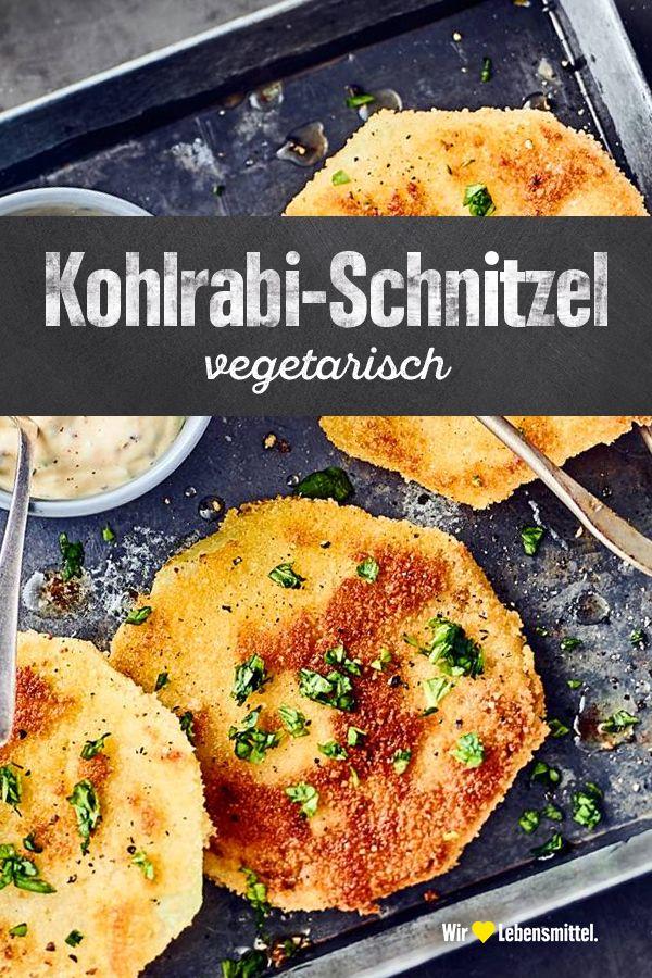 Vegetarisches Kohlrabi-Schnitzel