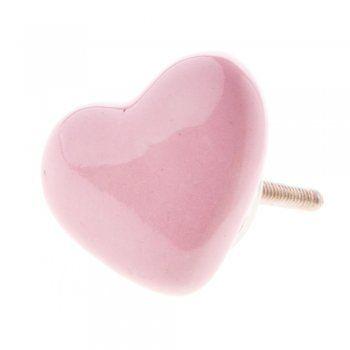 Gisela Graham Pink Ceramic Heart Drawer Knob | PINK PASSION 2 ...
