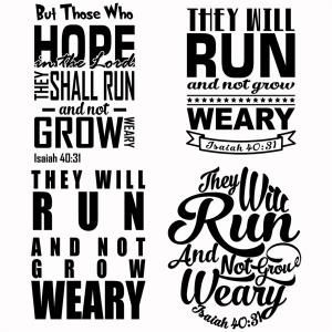 they will run and not grow weary marathon svg designs silhouette