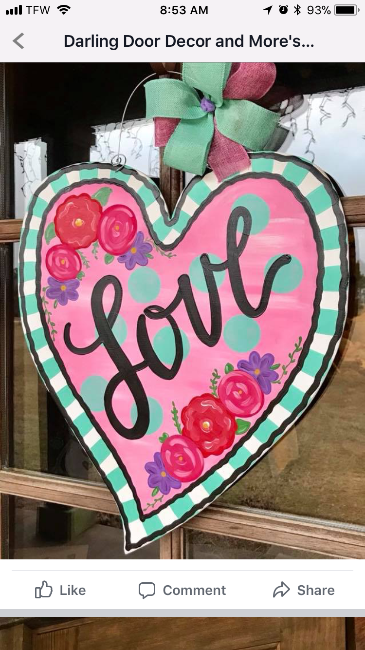 Valentine/'s Love You Bears Door Or Wall Hanger
