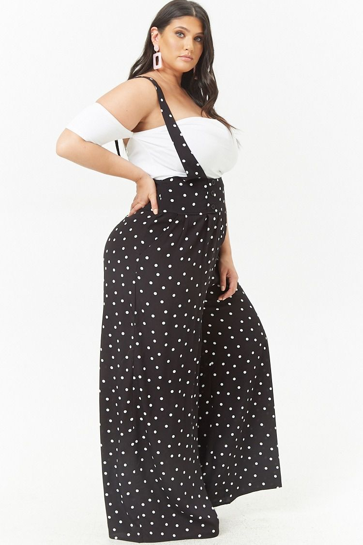 6b8fc91717e Product Name Plus Size Polka Dot Suspender Jumpsuit