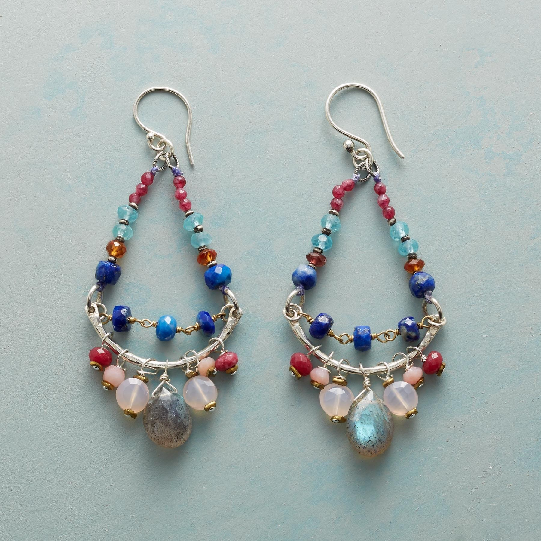 COUNTRY CHANDELIER EARRINGS -- A new twist on the classic chandelier ...