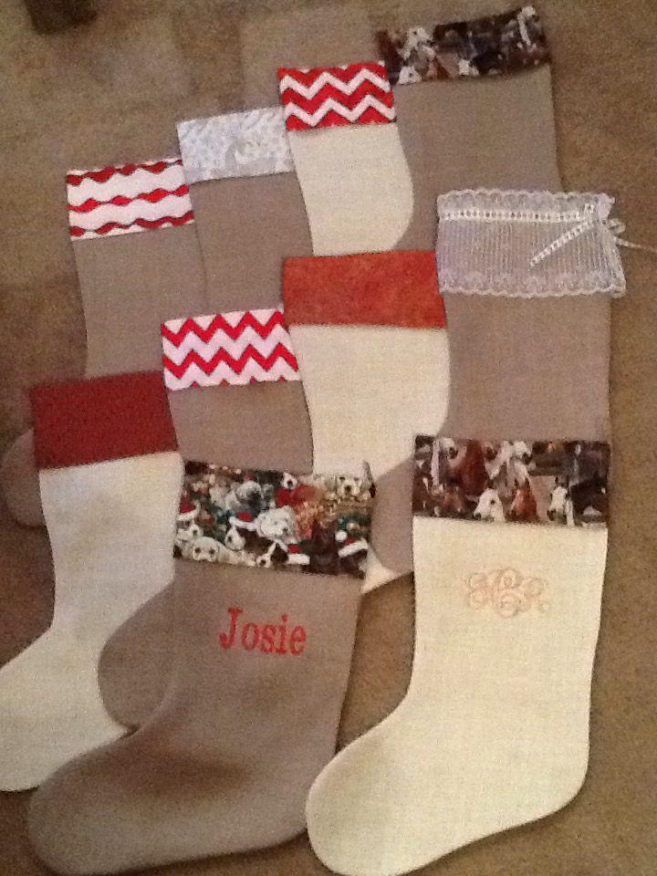 Western Christmas stockings