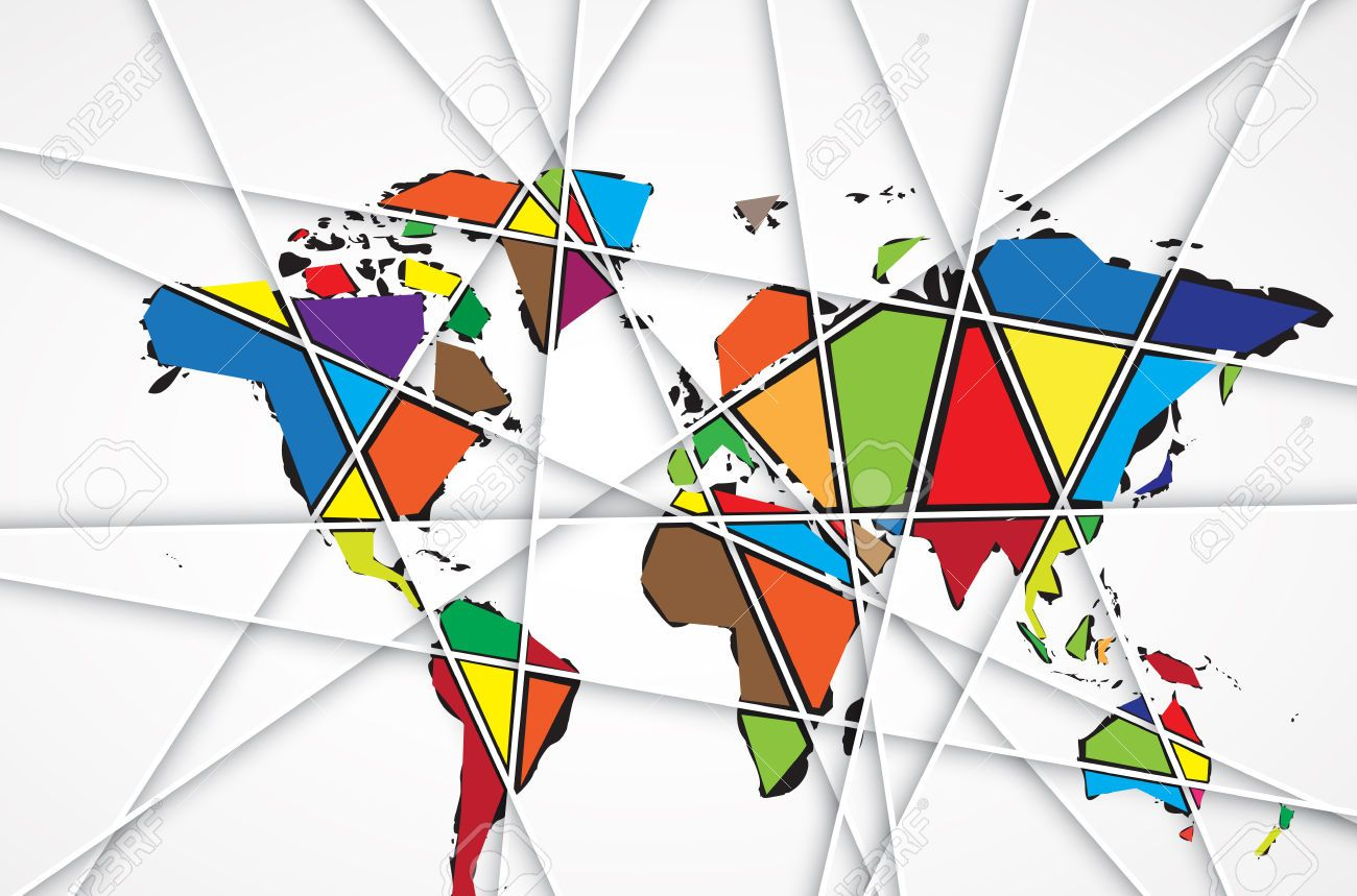 25882660 abstract world map background in polygonal style vector 25882660 abstract world map background in polygonal style gumiabroncs Gallery