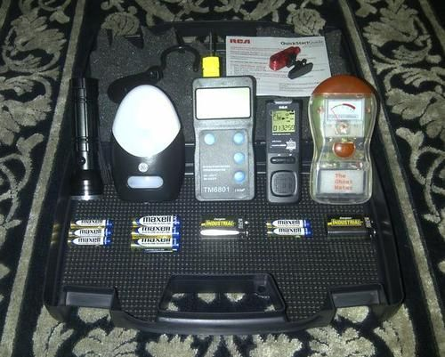 New Deluxe Paranormal Ghost Hunting Kit Equipment Case Free