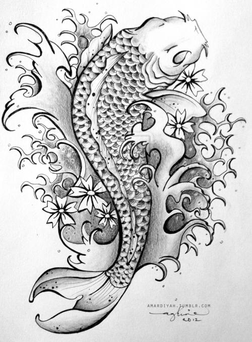 Dibujo Pez Koi Koi Fish Tattoo Koi Fish Drawing Animal Tattoos