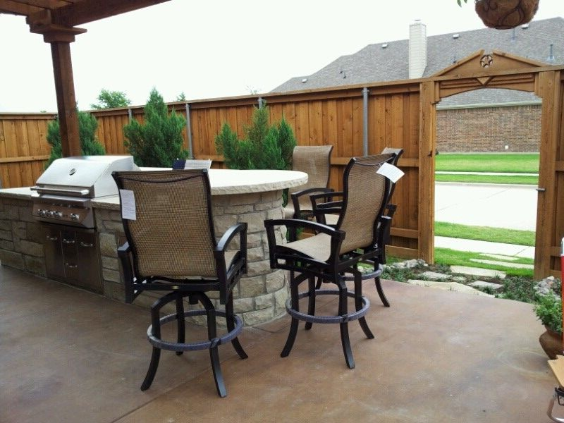 Atlantis Sling Patio Barstools By Mallin Outdoor Casual Furniture