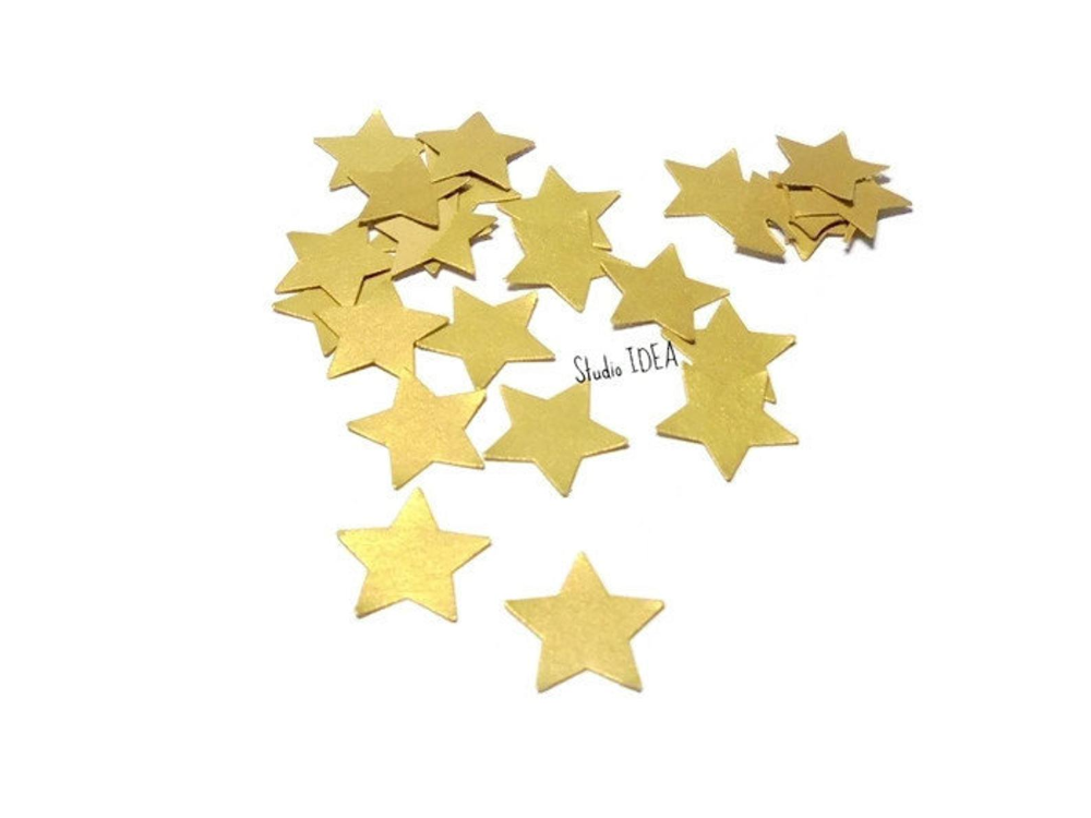Double Sided Gold Star Confetti 200pcs500pcs Small Gold Star Etsy Gold Stars Star Confetti Etsy