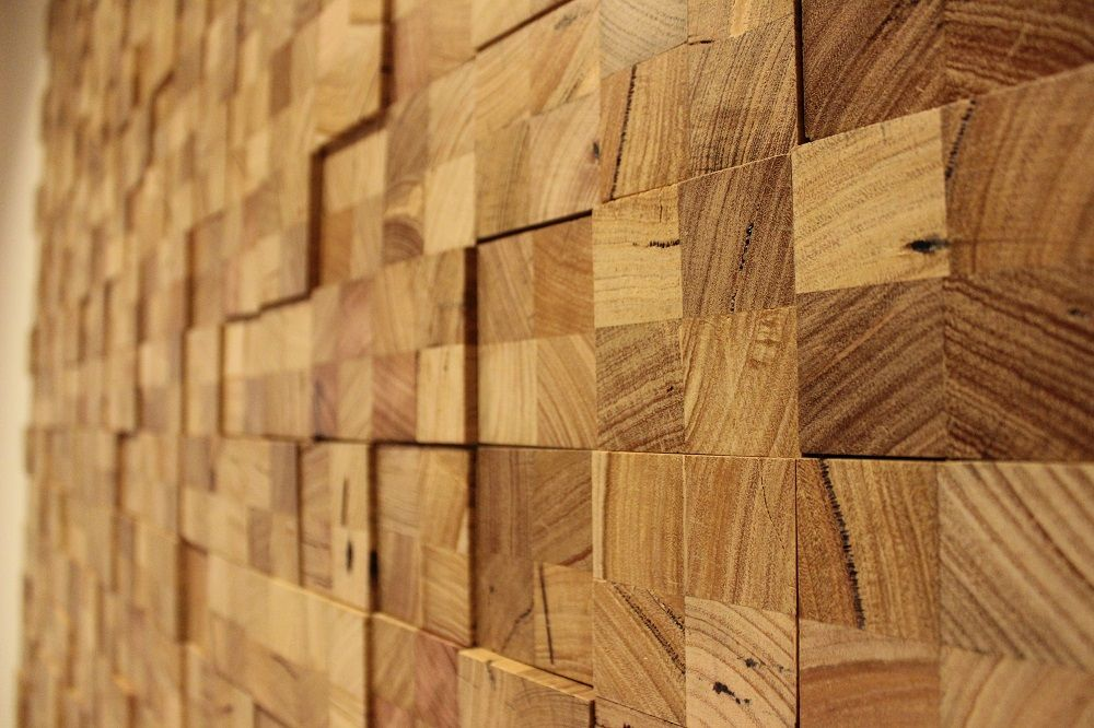 another feature wall using reclaimed timber. all the end of timber