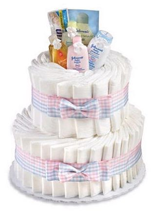 how to make diaper cake for baby shower
