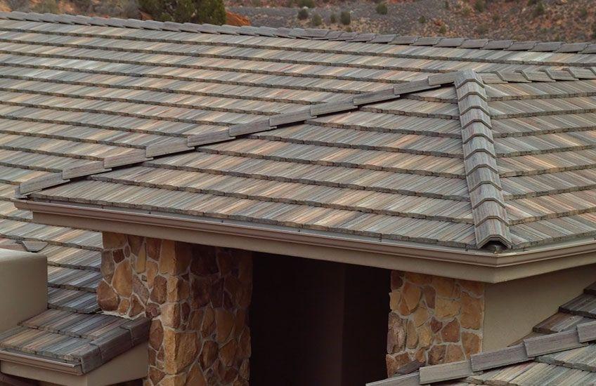 Pin By Debra Koehn On Home In The Trees Concrete Roof Tiles Roof Tiles Concrete Roof