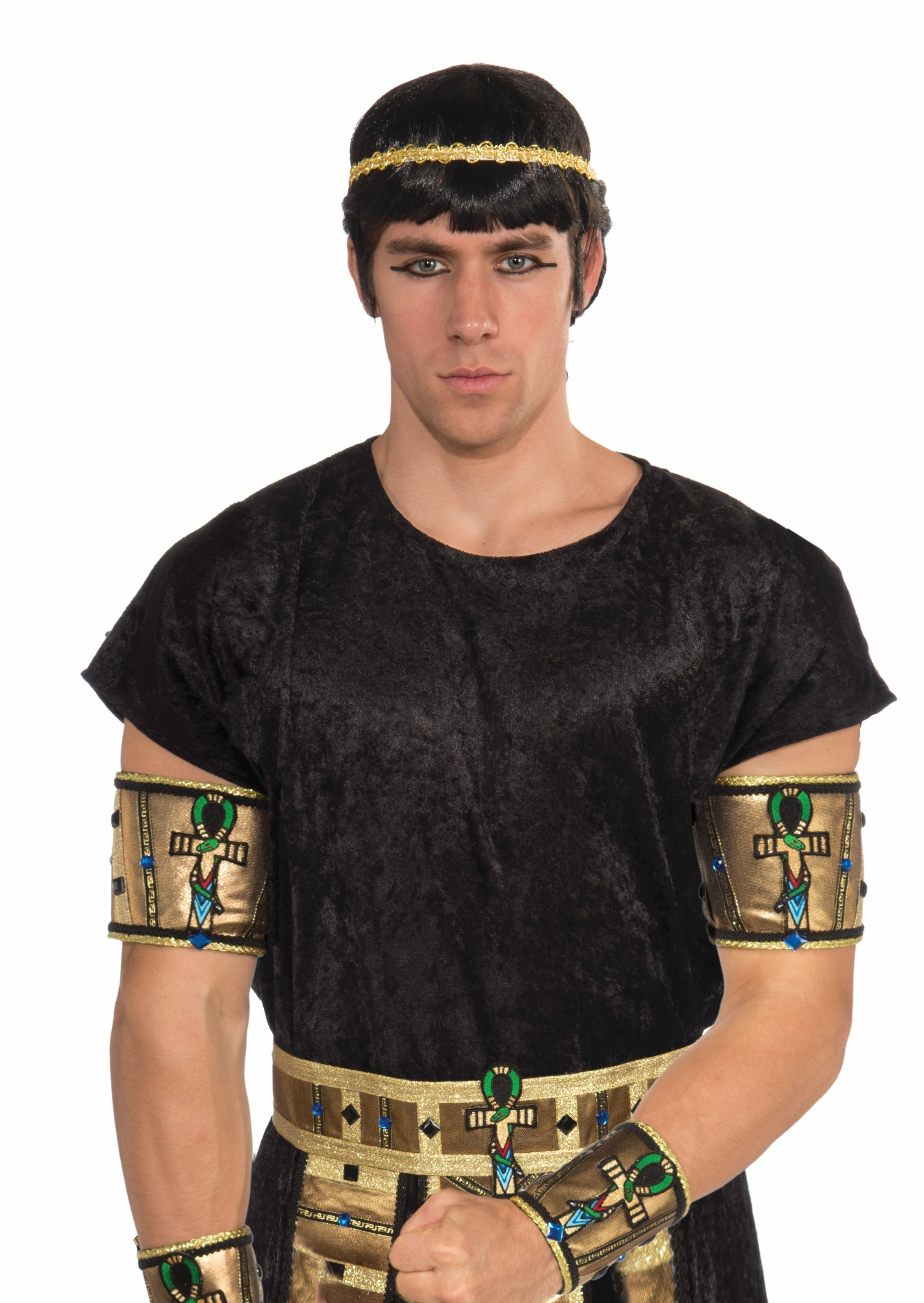 Deluxe Pair Male Egyptian Costume Armbands Adult New En 2019