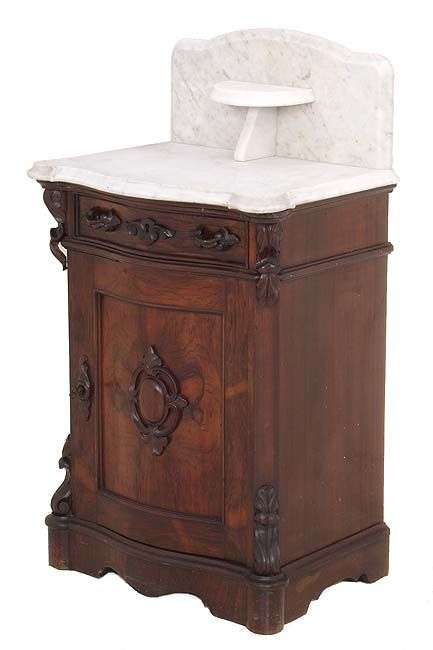 Rococo Rosewood Victorian Half Commode Signed By Mitchell Rammelsberg Cincinnati Oh C 1860
