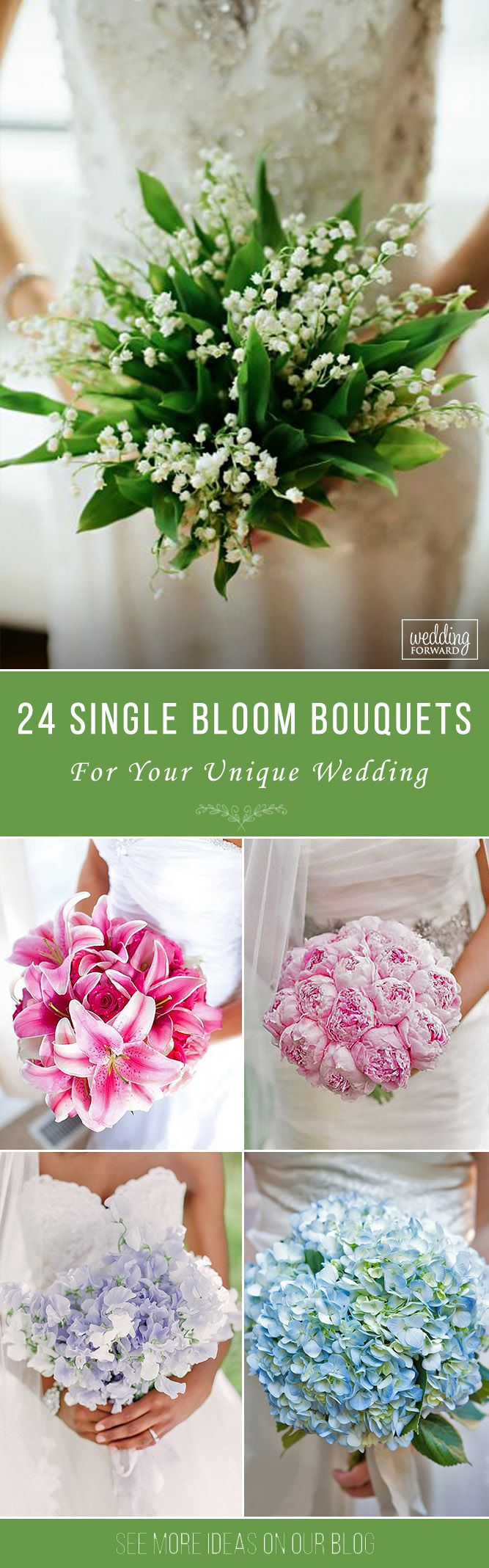 27 Stylish Single Bloom Wedding Bouquets   Wedding, Wedding and ...