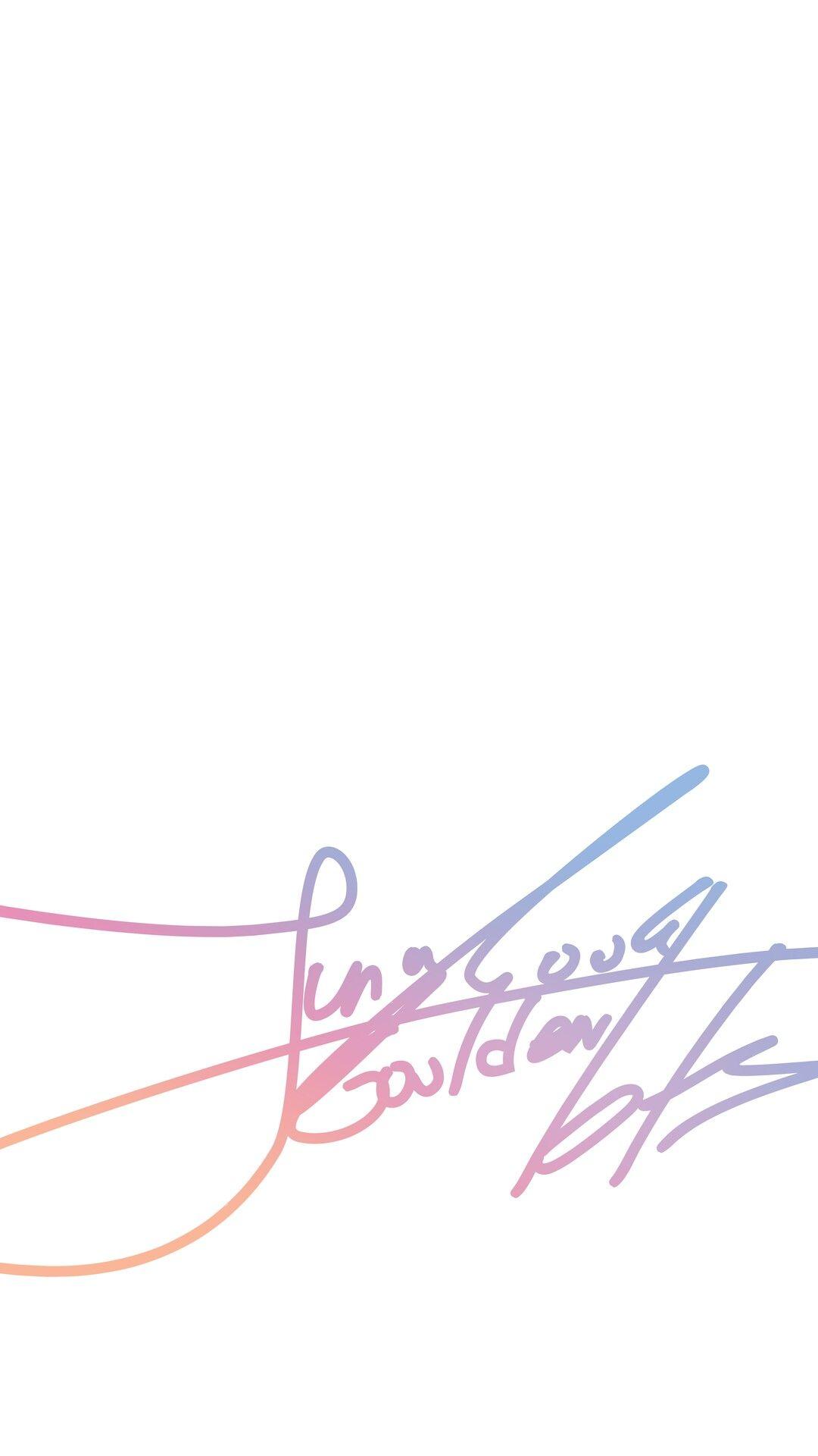 Pin Oleh Jing Yuan Di Jungkook Tanda Tangan Cara Menggambar Sampul Album