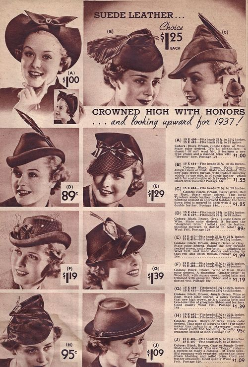 cf95871bdef Hat Styles 1937-alternate Easter hat for Marianne