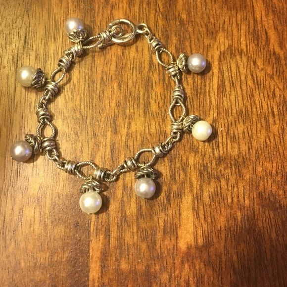 Pearl Bracelet Pearl and silver bracelet with a toggle clasp. Like new! Jewelry Bracelets