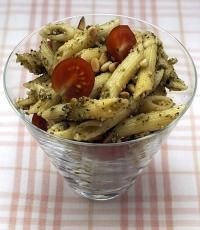 Pasta salad with home-whizzed pesto