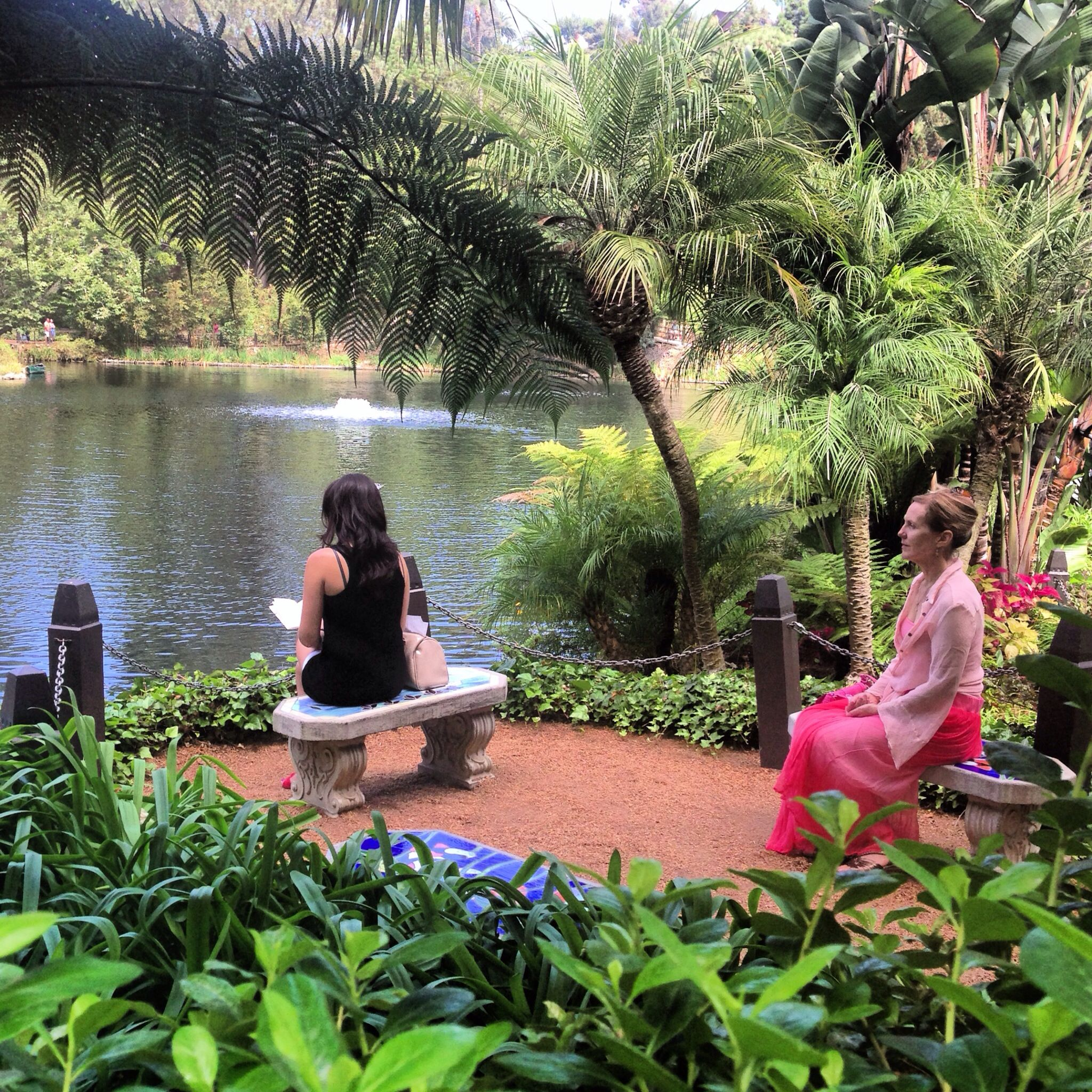Just A Place To Relax It Looks As Heaven The Self Realization Fellowship Lake Shrine Lies A