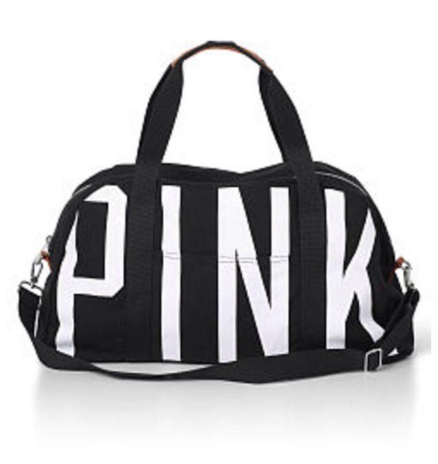 0907826ff Black Love Pink Duffle Bag   Love Pink♡   Pink duffle bag, Bag ...