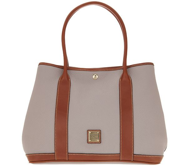 f0edb036a3a Dooney   Bourke Pebble Leather Layla Tote Handbag - Page 1 — QVC.com