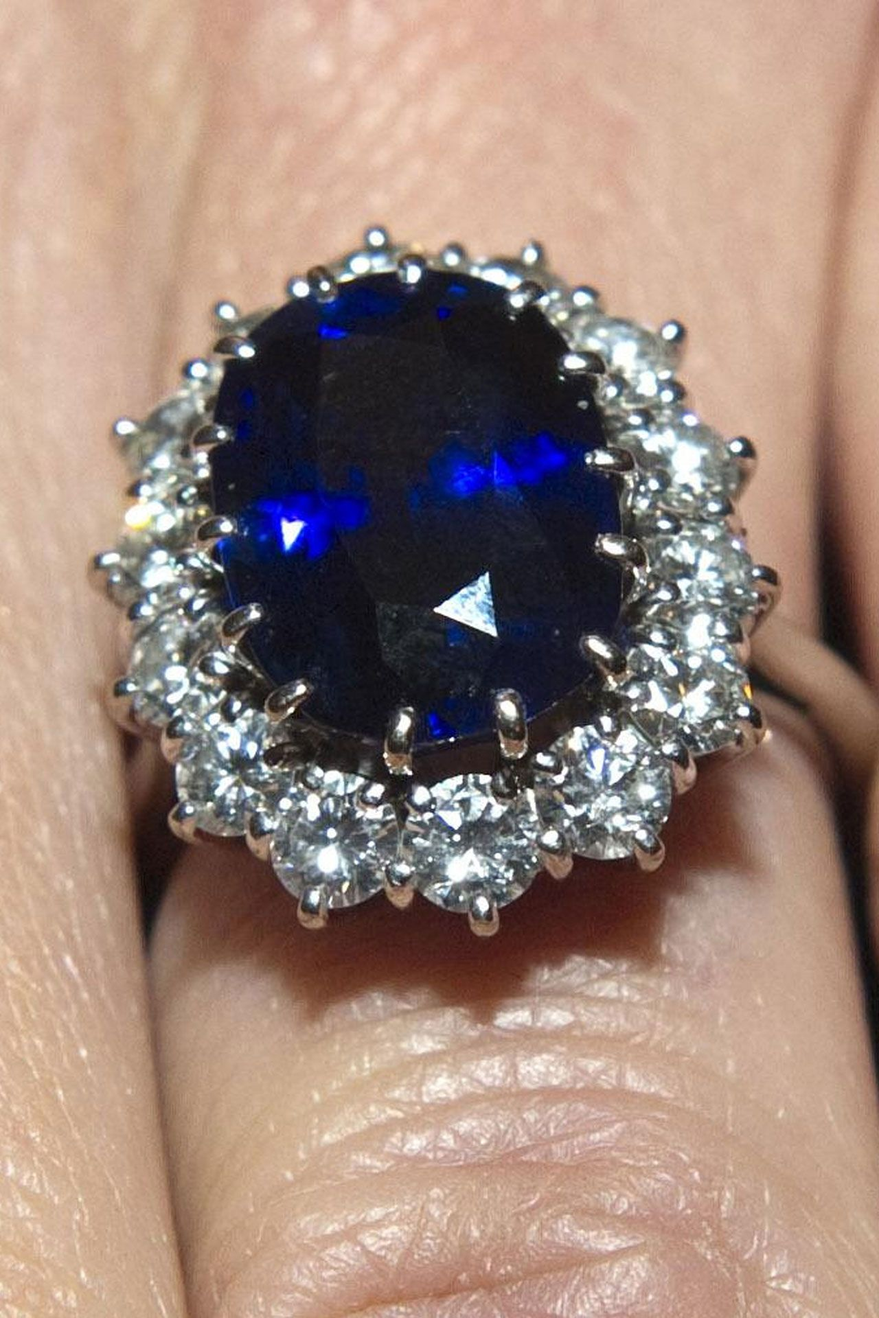 engagement weldons rings dublin dark shop cluster blue ring of diamond sapphire and antique