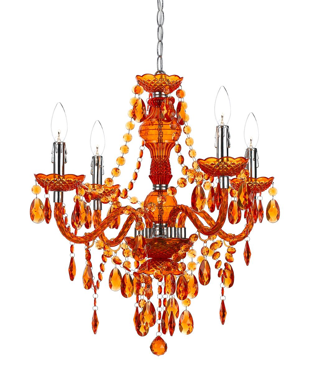Orange Chandelier We Just Transformed A Shabby Chic Chandelier We - Orange chandelier crystals