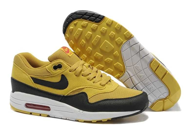 UK Market - Nike Air Max 1 Mens Yellow Black Trainers