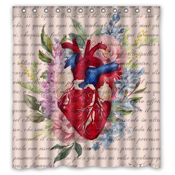 Anatomy Heart Shower Curtain