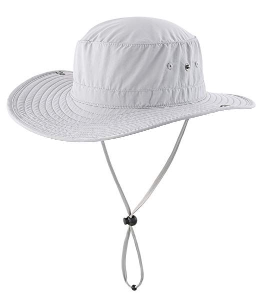 e68a8b0aa2410 Connectyle Outdoor Cowboy Sun Hat Wide Brim Bucket Fishing Hats Summer  String Hat Review