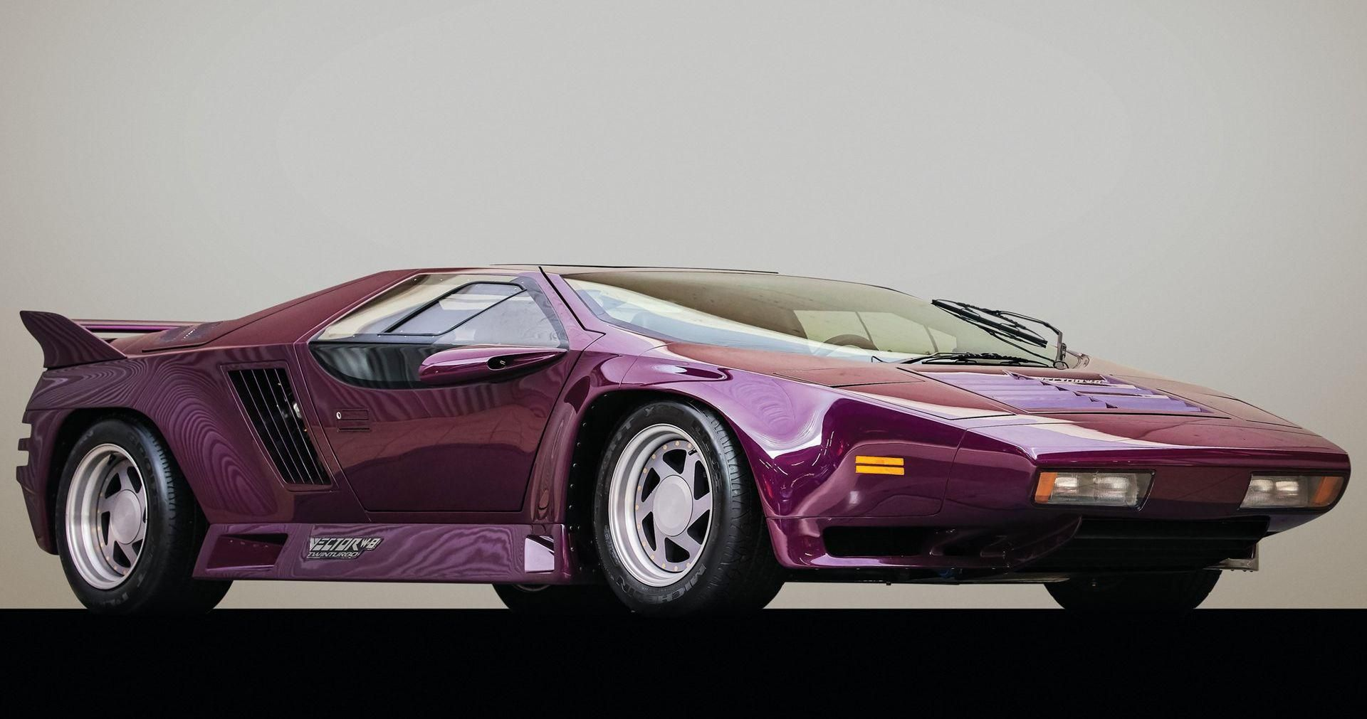 A Recently Auctioned Off Purple 1991 Vector W8 One Of 22 In Existence In 2020 Twin Turbo Unique Cars Super Cars