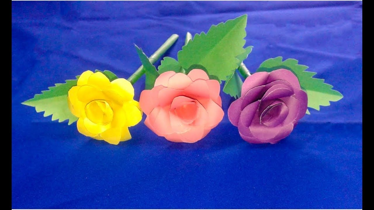 How To Make A Paper Rose Origami Makingflowers Easy Diy Paper