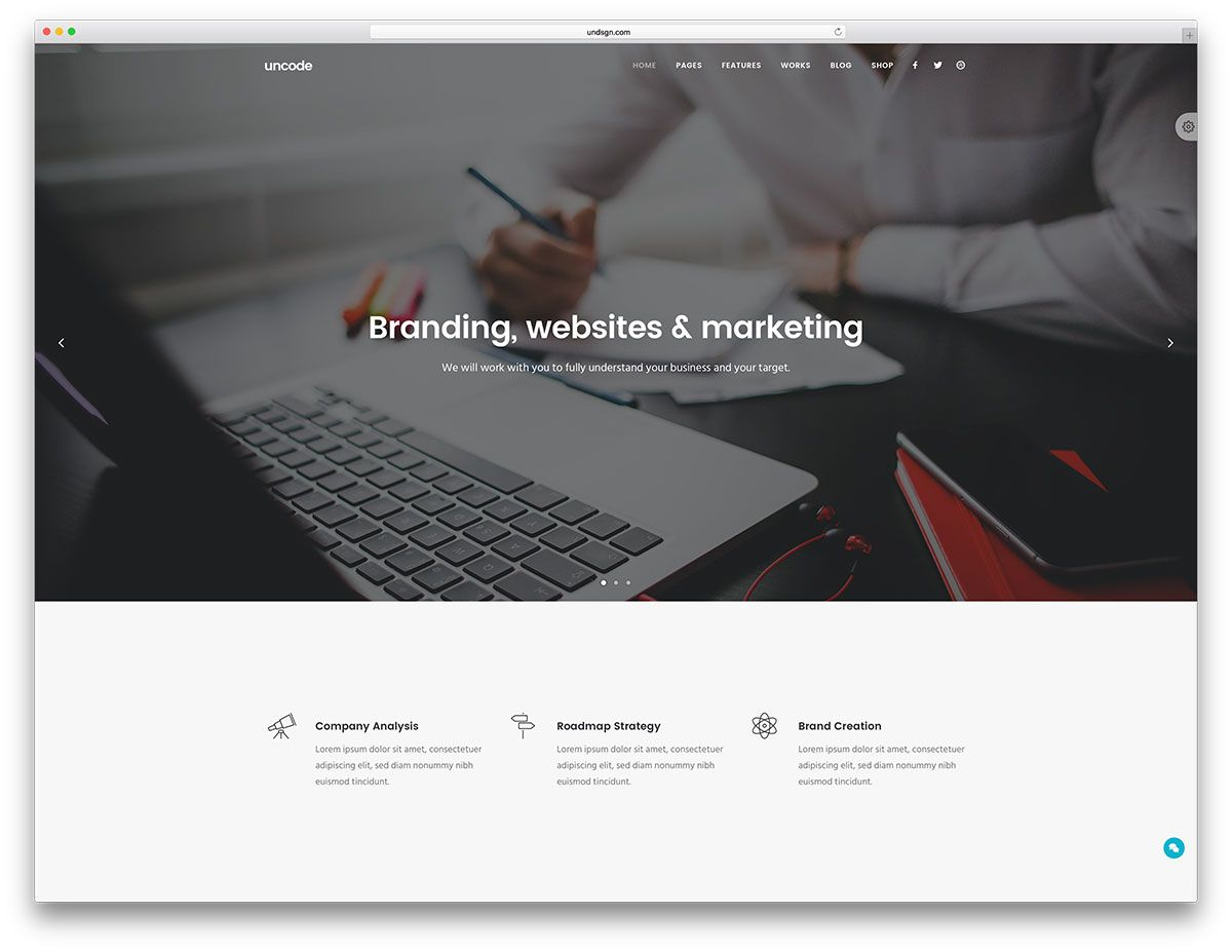 Uncode simple business wordpress website template uxui real uncode simple business wordpress website template wajeb Images